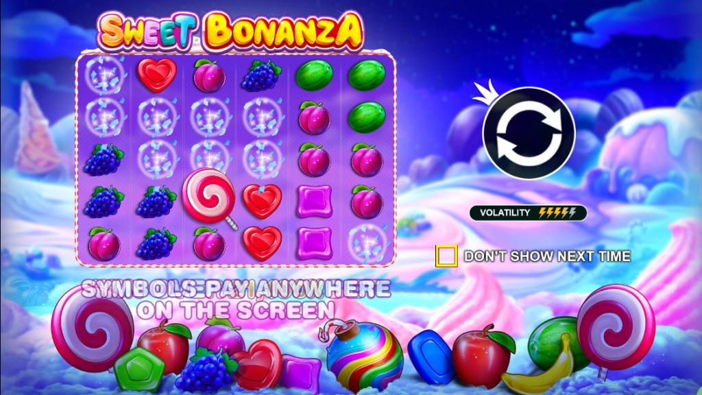 เกมสล็อตเล่นง่ายได้ไวต้อง Sweet Bonanza